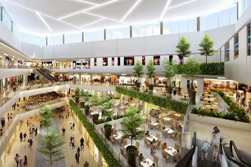 An artist's impression of Seletar Mall, which has confirmed three anchor tenants that will offer its patrons a variety entertainment, dining and shopping options. -- ILLUSTRATION: SPH