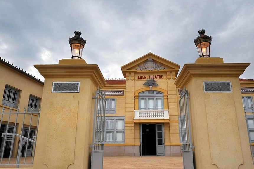 The entrance of the world's oldest cinema, The Eden Theatre, in La Ciotat, southern France on Oct 4, 2013. -- PHOTO: AFP