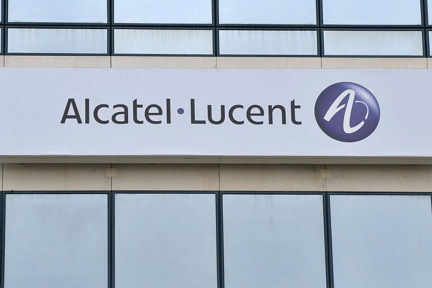 The logo of Telecom equipment giant Alcatel-Lucent at the group's plant of Velisy, outside Paris, is shown in this photo taken on July 23, 2009. Alcatel-Lucent plans to reduce its staff by 10,000 as part of a cost-cutting drive to save 1 billion euro
