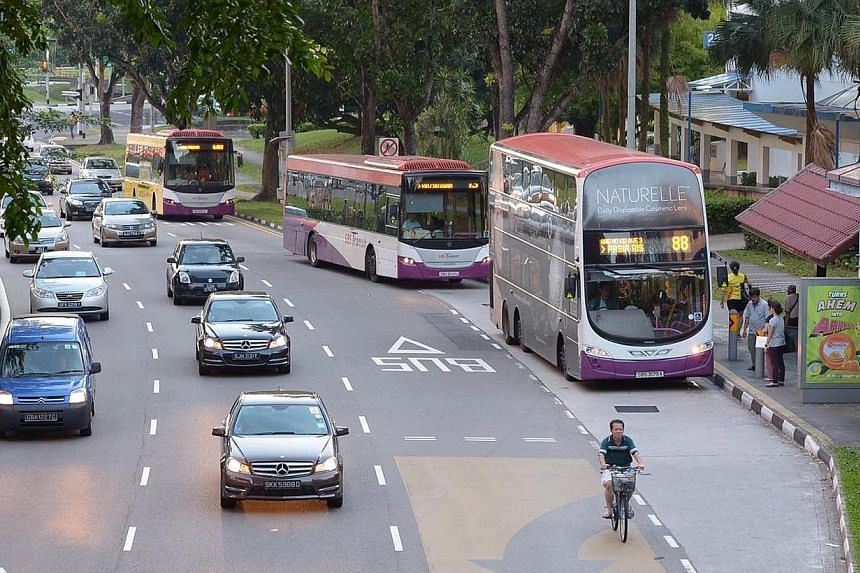 Bus lane along Ang Mo Kio Avenue 6, off Street 24, on Oct 4, 2013. While the Land Transport Masterplan 2013 is moving in the right direction to enhance public transport here, more should to be done to convince commuters they do not need a car to get