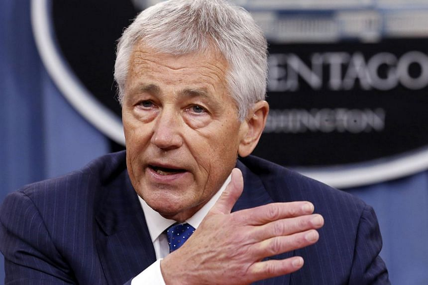 "US Defence Secretary Chuck Hagel speaks during a briefing on the Defence Department's FY2014 budget at the Pentagon in Washington in this file photo taken April 10, 2013. US Defence Secretary Chuck Hagel on Tuesday promised Israel to be ""clear-eyed"""