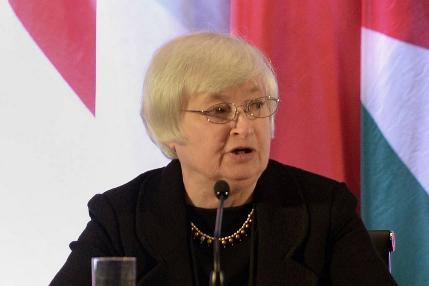 United States (US) Federal Reserve vice-chairman Janet Yellen speaks at an international monetary conference in Shanghai on June 3, 2013. US President Barack Obama will nominate Ms Yellen on Wednesday to succeed Mr Ben Bernanke as leader of the Feder