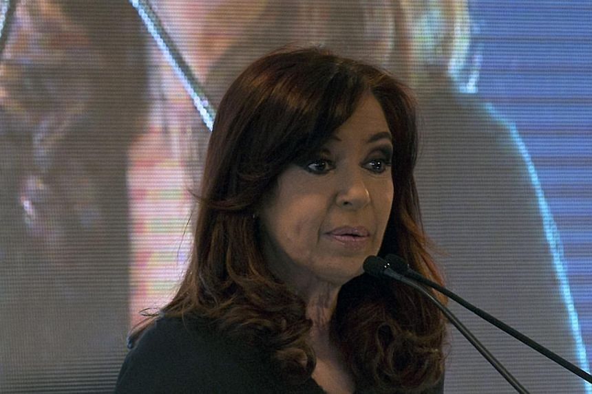 Argentina's President Cristina Fernandez de Kirchner delivers a speech during the opening ceremony of Uruguay's state-owned oil refinery ANCAP desulphurizing plant in Montevideo on August 27, 2013. Argentine President Cristina Kirchner was recov