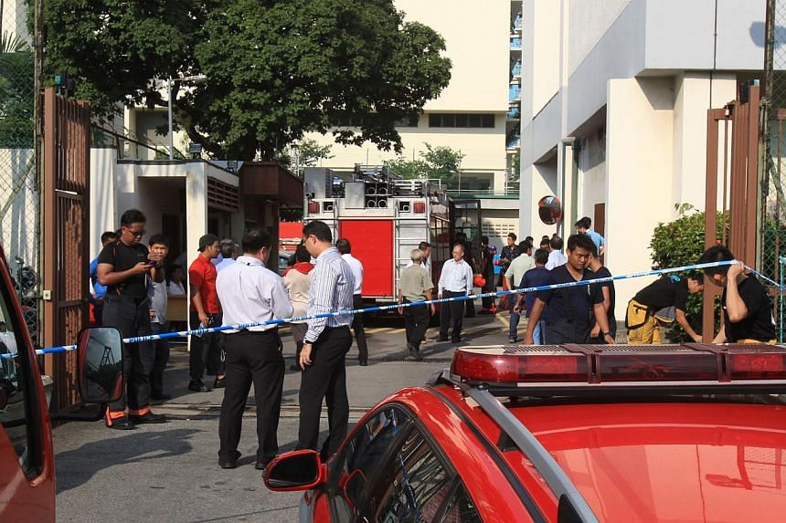Telco SingTel will hold a press conference at 1pm on Thursday to provide further details on the extent of the fire damage and restoration efforts. -- PHOTO:ZAOBAO