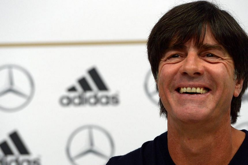 """Germany's head coach Joachim Loew addresses a press conference ahead of the World Cup qualifiying football match Germany vs Ireland in Duesseldorf, western Germany, on Oct 9, 2013. Coach Joachim Loew has said he wants Germany to be """"greedy"""" against t"""