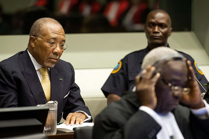 Former Liberian president Charles Taylor appears in court at the Special Court for Sierra Leone for his appeal judgment at The Hague on Sept 26, 2013.Taylor is to serve his 50-year prison sentence for war crimes in Britain, the British governme