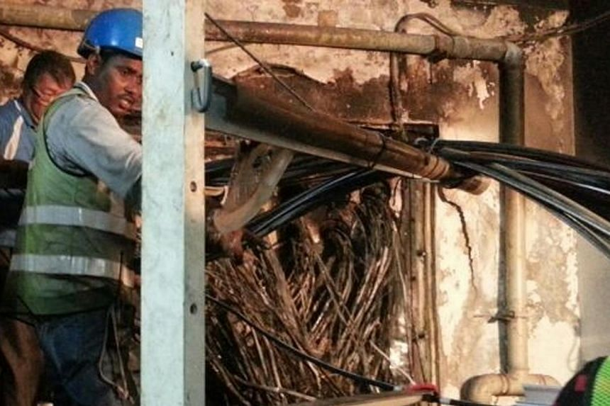 Minister for Communications and Information Dr Yaacob Ibrahim said it is crucial to get to the bottom of a fire that broke out at a SingTel Internet facility. -- PHOTO: SINGTEL