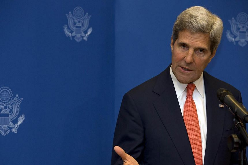 US Secretary of State John Kerry speaks during a news conference in Kuala Lumpur on Thursday, Oct 10, 2013. MrKerry said on Thursday that Washington's suspension of military hardware deliveries to Egypt was not a withdrawal of US friendship and