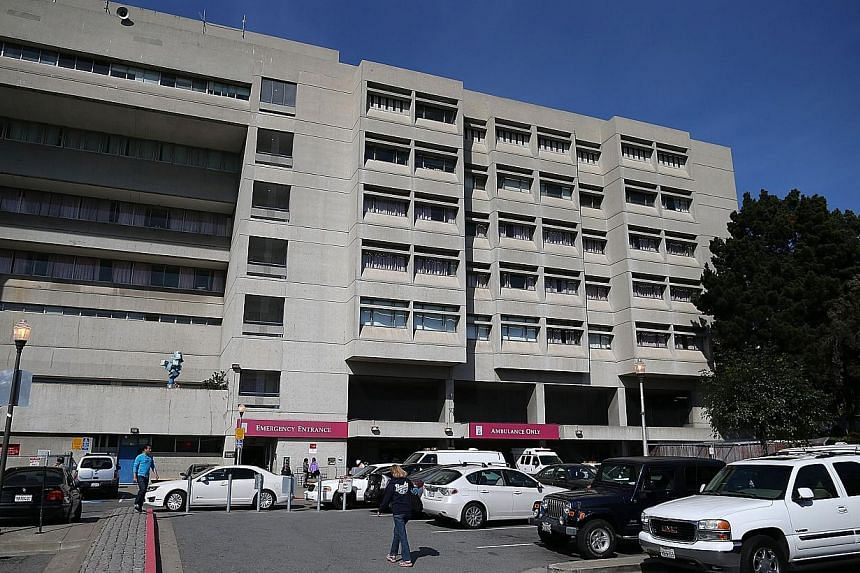 A view of San Francisco General Hospital on Oct 8, 2013 in San Francisco, California. 57-year-old Lynne Spalding was found dead in a remote stairwell after she was reported missing from her hospital room more than two weeks ago. -- PHOTO: AFP