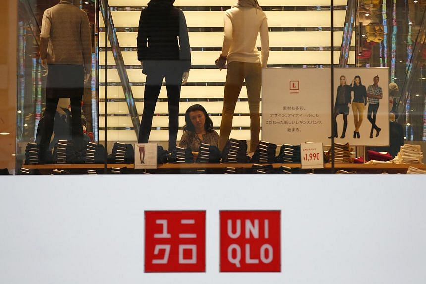 The operator of Japanese cheap-chic clothing chain Uniqlo on Thursday, Oct 10, 2013, said its annual net profit jumped 26.1 per cent to a record as it keeps up a rapid expansion drive. -- FILE PHOTO: REUTERS