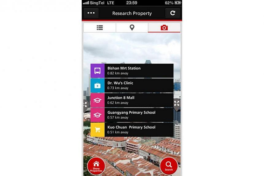 DBS Bank launched a smartphone app on Thursday in a bid to grow its mortgage business. -- PHOTO: DBS HOME CONNECT APP