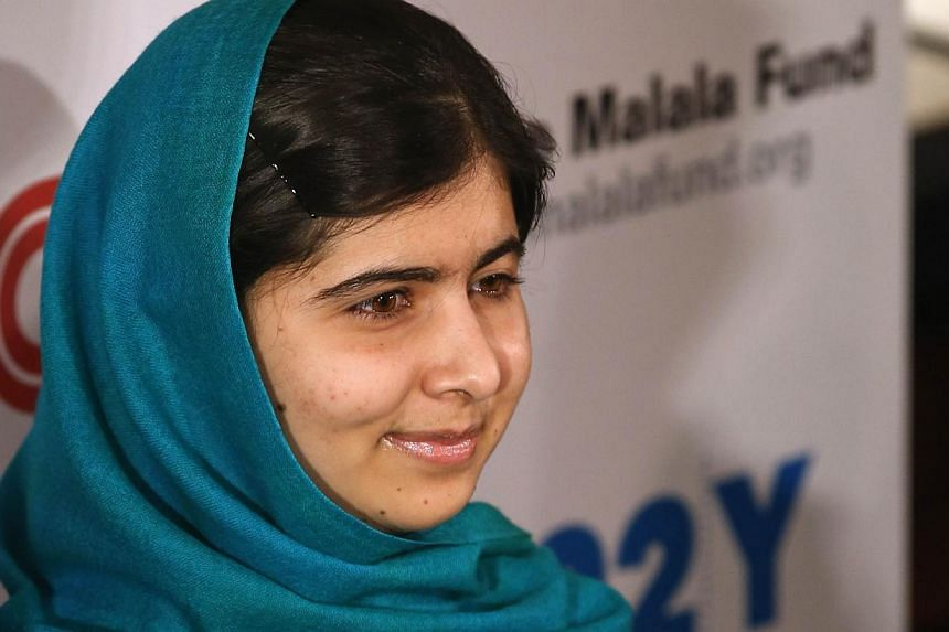 """Malala Yousafzai appears before photographers prior to an interview with CNN's Christiane Amanpour in New York City on Oct 10, 2013. Malala Yousafzai told an audience in New York that she would like to become prime minister of Pakistan to """"save"""" the"""