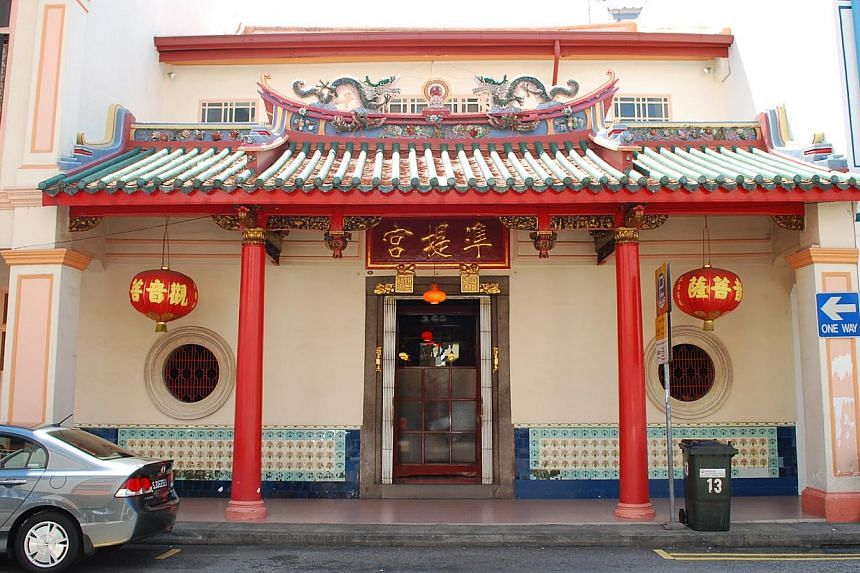 The temple, boys' home and cultural centre of the Ramakrishna Mission at 179 Bartley Road. The buildings were given conservation status in October 2006.   The Cundhi Gong Temple at 13 Keong Saik Road is just one of about 7,100 heritage buildings in S