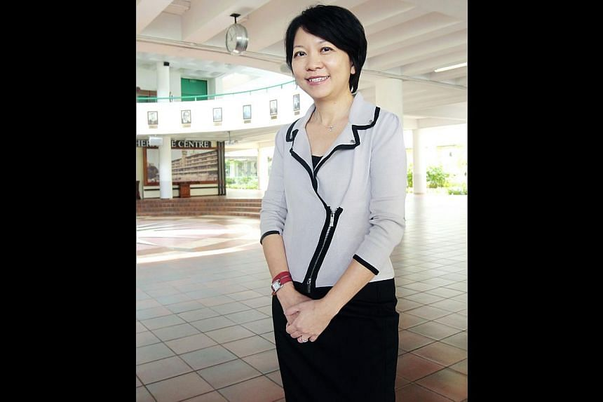 (Above) Mrs Lim is believed to be leaving MOE for another position.  (Top, left) VJC principal Chan Poh Meng is likely to be her replacement at RI.