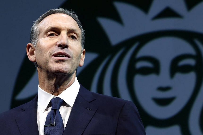 Starbucks chief executive Howard Schultz speaks at the company's annual shareholders meeting in Seattle, Washington, on March 20, 2013. Starbucks Corp plans to circulate petitions to customers across the United States urging lawmakers to reopen the p