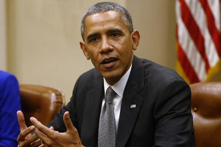United States President Barack Obama meets with small business owners about the government shutdown and debt ceiling on Friday, Oct 11, 2013. House Republicans blamed Mr Obama on Saturday for the collapse of a deal on extending US borrowing authority