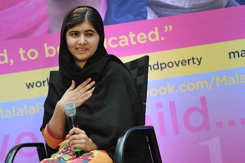 Malala Yousafzai speaks at an International Day of the Girl event at World Bank Headquarters on Oct 11, 2013 in Washington, DC. Malala Yousafzai, the Pakistani schoolgirl activist who has become a world champion of girls' rights, called on Friday for