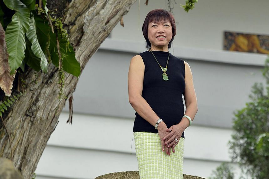 Mrs Virginia Cheng, 64, has been principal of National Junior College since 2001, and is retiring at the end of this year. -- ST PHOTO: DESMOND FOO