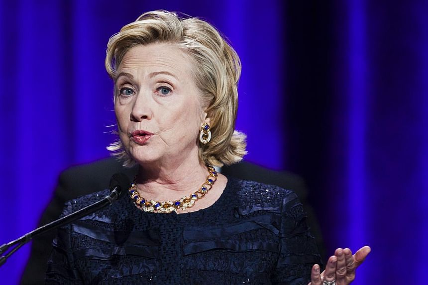 Former US Secretary of StateHillary Clinton (above) may be tipped as a future US president, but that did not impress a London traffic warden who slapped her vehicle with an £80(S$159) parking fine. -- PHOTO: REUTERS