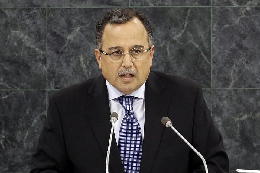 Relations between the United States and Egypt are now in turmoil and the entire Middle East could suffer, Egyptian Foreign Minister Nabil Fahmy (above) said in remarks made a week after Washington moved to curtail military aid to Cairo. -- FILE PHOTO