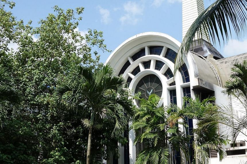 A fire broke out in the chapel at St Joseph's Institution (SJI) on Wednesday morning, but no one was hurt. The chapel has been cordoned off. -- ST PHOTO:JAMIE KOH