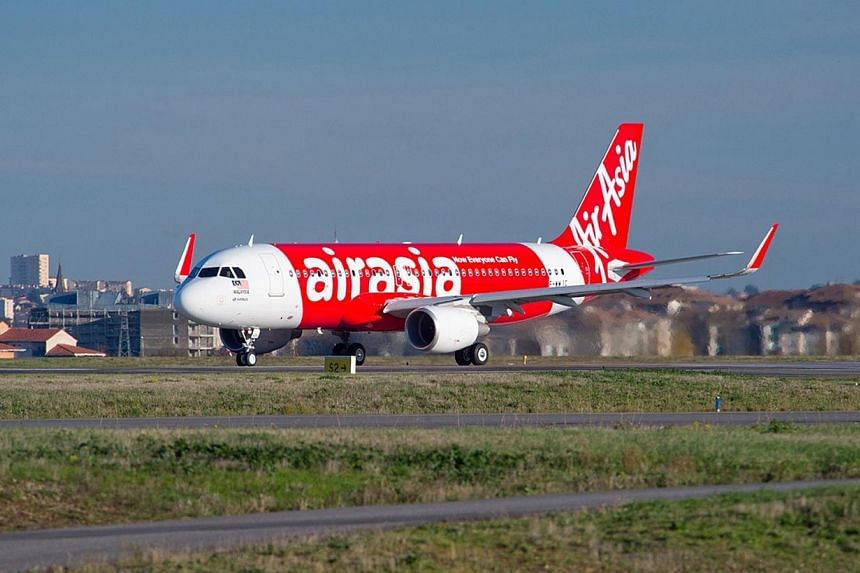 Budget carrier AirAsia will fly direct from Singapore to Krabi, Thailand from Nov 25. -- FILE PHOTO: AIRASIA
