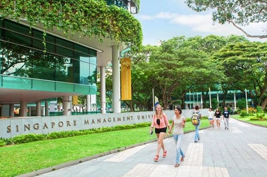 Singapore Management University (SMU) has launched an academy to train financial sector IT professionals. -- PHOTO:FACEBOOK OF SINGAPORE MANAGEMENT UNIVERSITY