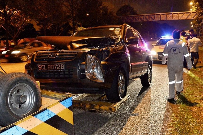 The driver of the SUV involved in Wednesday night's accident on the AYE is reported to be a Mr Tan. He was quoted as saying that the lorry had slowed down without warning and he could not brake in time. As of yesterday, 14 of the 16 injured workers h