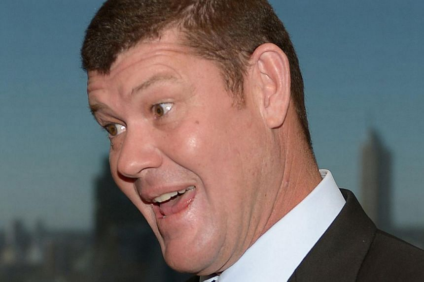 High profile Australian identity James Packer is photographed at a book launch in Sydney on July 23, 2013. Mr Packer on Friday said he plans to pump A$400 million (S$474 million) into a five-star gambling resort in Sri Lanka, cashing in on the countr