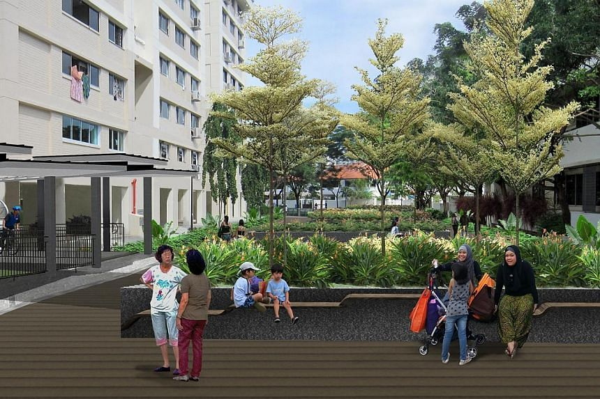 An artist's impression of the proposed community deck. -- PHOTO: PUB