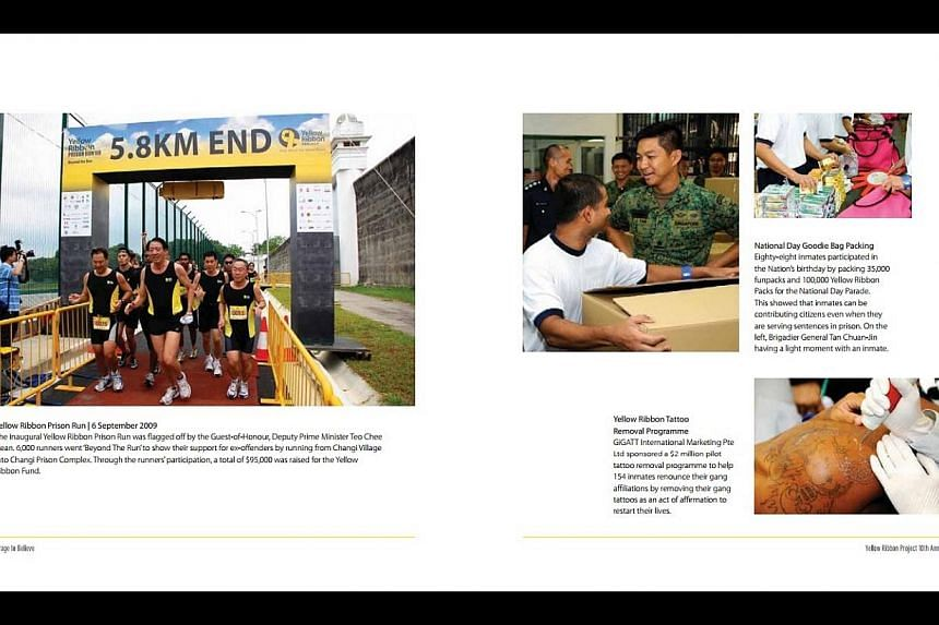 Page from The Courage To Believe. The Yellow Ribbon Project is commemorating its 10th anniversary with a book documenting its history. -- PHOTO: YELLOW RIBBON PROJECT