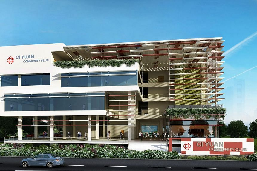 An artist's impression of the upcoming Ci Yuan Community Club. -- PHOTOS: PEOPLE'S ASSOCIATION, LIANHE ZAOBAO, NEO XIAOBIN