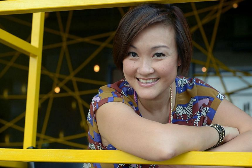 Singapore voiceover artists include veteran DJ Vernon Anthonisz, former DJ Petrina Kow (above) and events compere Charissa Seet. -- PHOTO: NG SOR LUAN