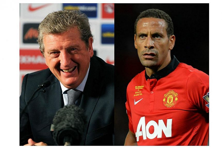 The Football Association announced on Sunday that England manager Roy Hodgson (left)  and Manchester United defender Rio Ferdinand (right) have joined a commission to investigate the failings of the national team. -- PHOTO: AFP