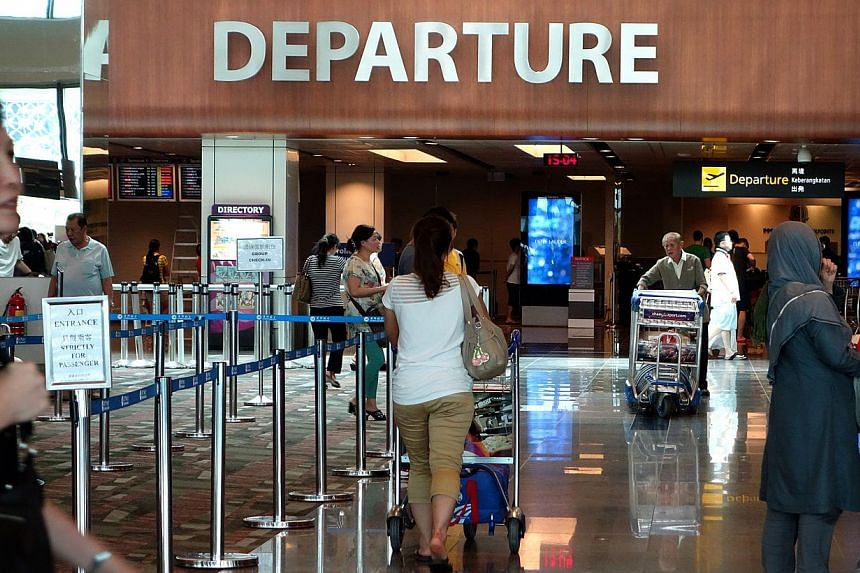 Changi Airport handled 4.3 million passengers in September, an increase of 6.9 per cent over the same month last year. -- ST FILE PHOTO: JAMIE KOH