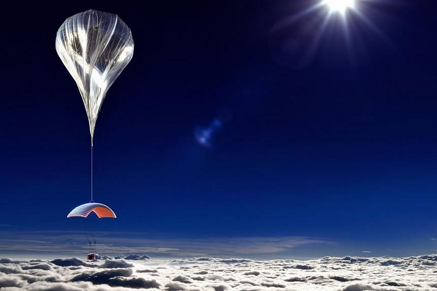 An artist rendering from World View Enterprises Inc, released on Tuesday, Oct 22, 2013, shows a six-passenger, two-pilot pressurised capsule in a near-space balloon-launched ride that is being designed to fly in Earth's stratosphere, about