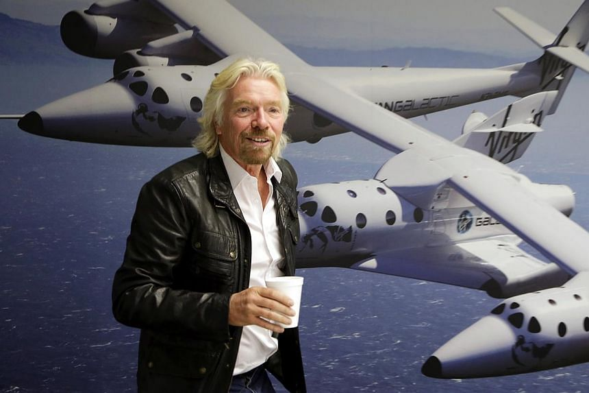 This Sept 25, 2013 file photo shows Mr Richard Branson at the Virgin Galactic hangar at Mojave Air and Space Port in Mojave, California. -- FILE PHOTO: AP