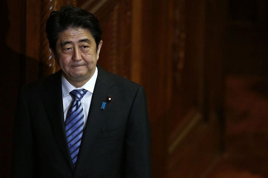 Japan's Prime Minister Shinzo Abe after delivering his policy speech at the Lower House of Parliament in Tokyo on October 15, 2013. -- FILE PHOTO: REUTERS