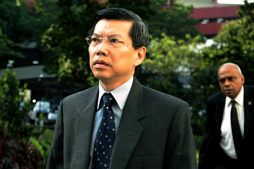 Former civil defence chief Peter Lim Sin Pang was granted early release from his six-month jail term on Saturday morning. -- ST FILE PHOTO: WONG KWAI CHOW