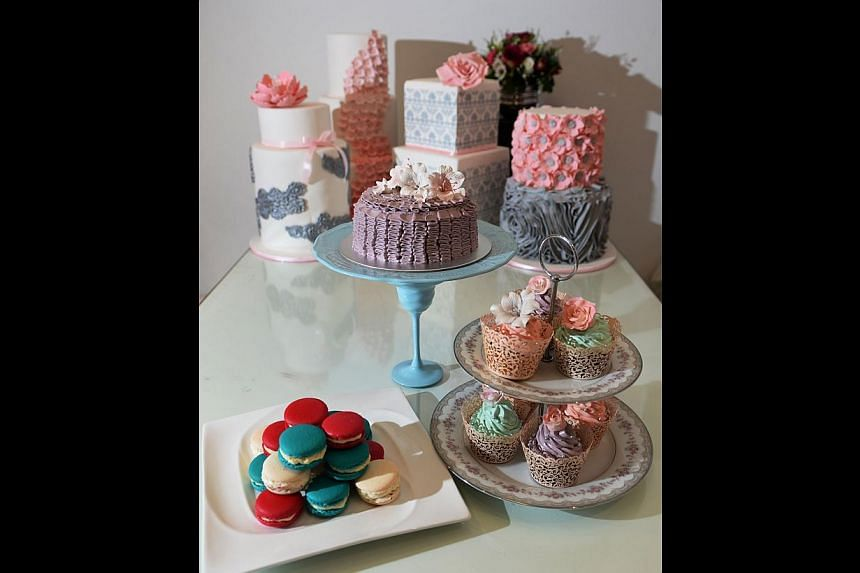 Ms Joan Chien specialises in custom-designed fondant and buttercream cakes and also does dessert tables for events.