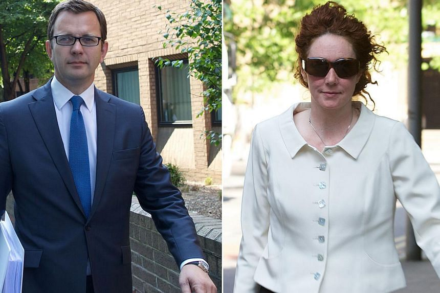 This combination of file pictures shows (left) former News of the World editor and Downing Street communications chief, Andy Coulson, leaving Southwark Crown Court in central London on June 6, 2013 and (right) former News International chief executiv