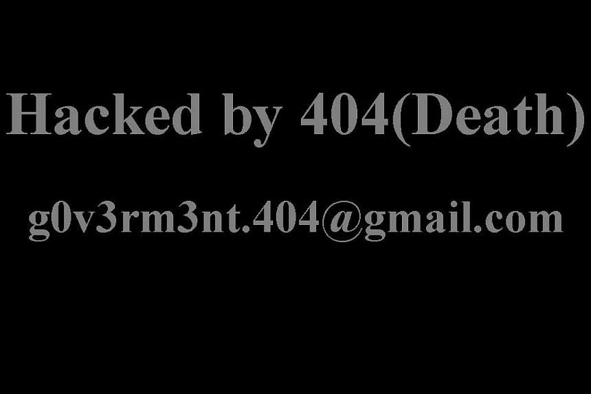 Converse Singapore's website was hacked by someone who signed off as 404(Death) on Sunday. -- PHOTO: SCREENGRAB