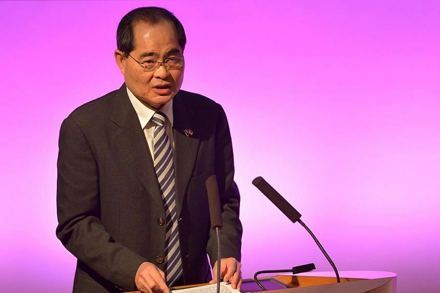 Minister for Trade and Industry Lim Hng Kiang giving a keynote address at a business seminar in Paris on Oct 28, 2013. It was titled 'Singapore and France: Linking Asia & Europe through Trade and Investment' and jointly organised by the Singapore