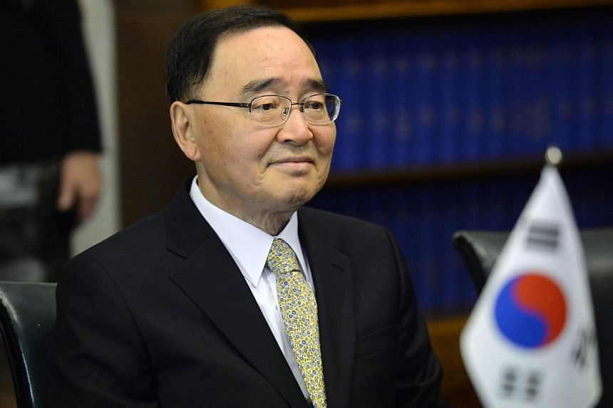South Korean Prime Minister Chung Hong Won at a meeting at the Finnish Parliament in Helsinki, Finland on October 24, 2013. -- FILE PHOTO: AFP