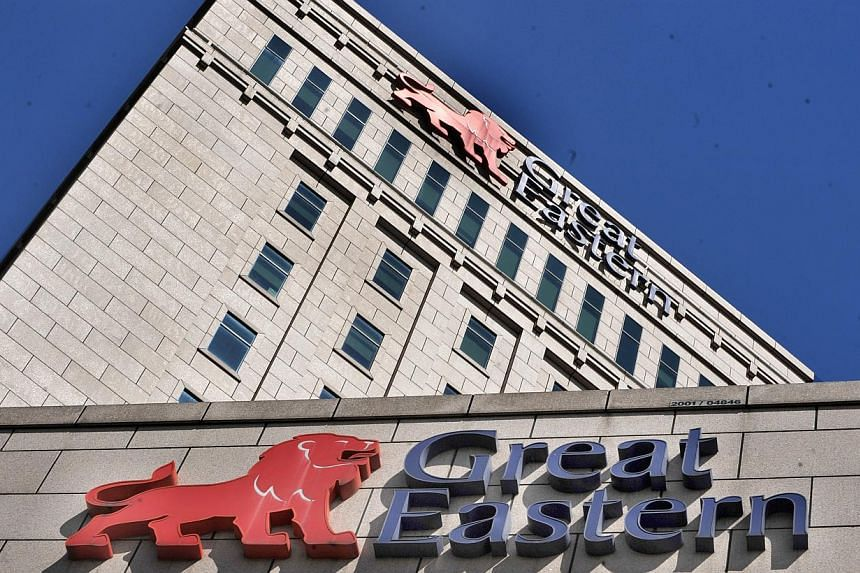 Great Eastern Centre.Great Eastern Holdings' net profit fell 54 per cent to $282.8 million in the third quarter from the preceding year, it said on Tuesday. -- ST FILE PHOTO:ARTHUR LEE CH
