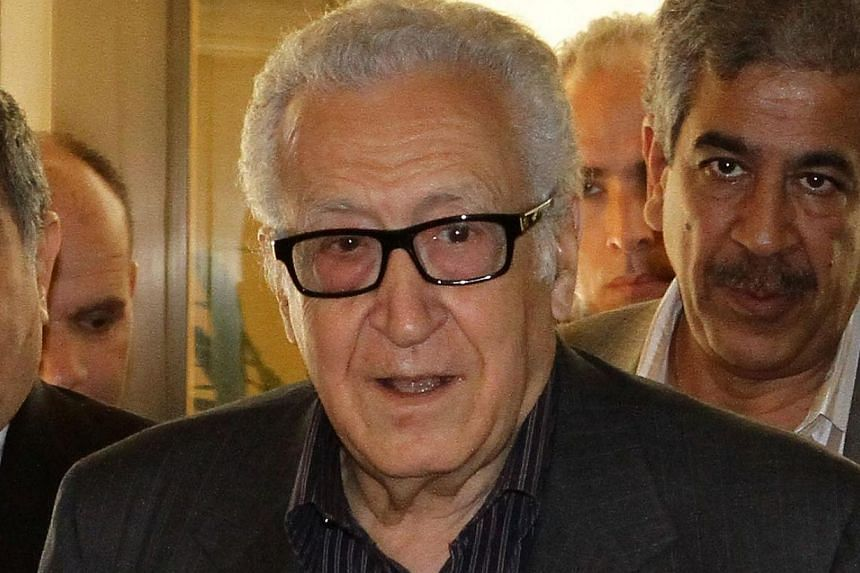 The UN-Arab League envoy to Syria Lakhdar Brahimi arrives at the Sheraton hotel on Oct 28, 2013, in Damascus as part of a tour aimed at garnering support for proposed peace talks. UN-Arab League envoy Lakhdar Brahimi, who arrived in Damascus Monday,