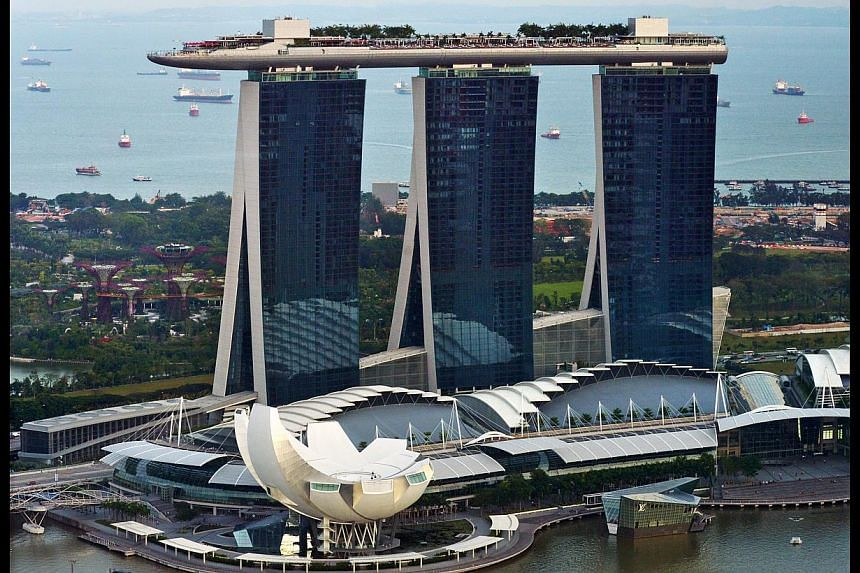 Marina Bay Sands integrated resort. The bulk of employees at Marina Bay Sands (MBS) will now be offered union membership. -- ST FILE PHOTO: ALPHONSUS CHERN