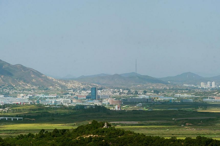 A general view shows the Kaesong joint industrial park as seen from the border of Kaesong on Sept 25, 2013. A group of South Korean lawmakers crossed the fortified border into North Korea on Wednesday to visit a jointly run industrial park that recen