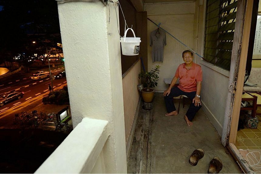 Mr Lee Tien Hee (above), 82, has lived in an HDB flat in Joo Chiat since 1964, but will move out when the blocks are demolished, making Joo Chiat the first all-private-property constituency in Singapore. -- ST PHOTOS: RAJ NADARAJAN