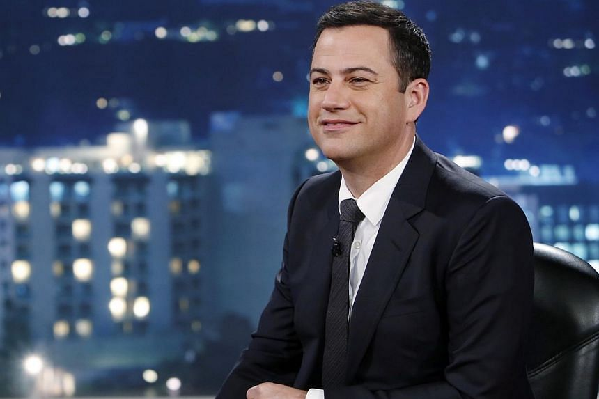"""This July 3, 2013, photo released by ABC shows Jimmy Kimmel on Jimmy Kimmel Live. ABC has apologised after a child flippantly suggested to """"kill everyone in China"""" during a late-night comedy show which infuriated Asian American activists. -- FI"""